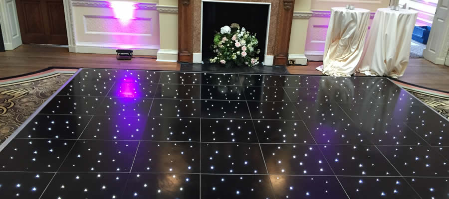 Black LED dancefloor
