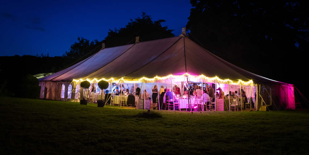 wedding marquee party